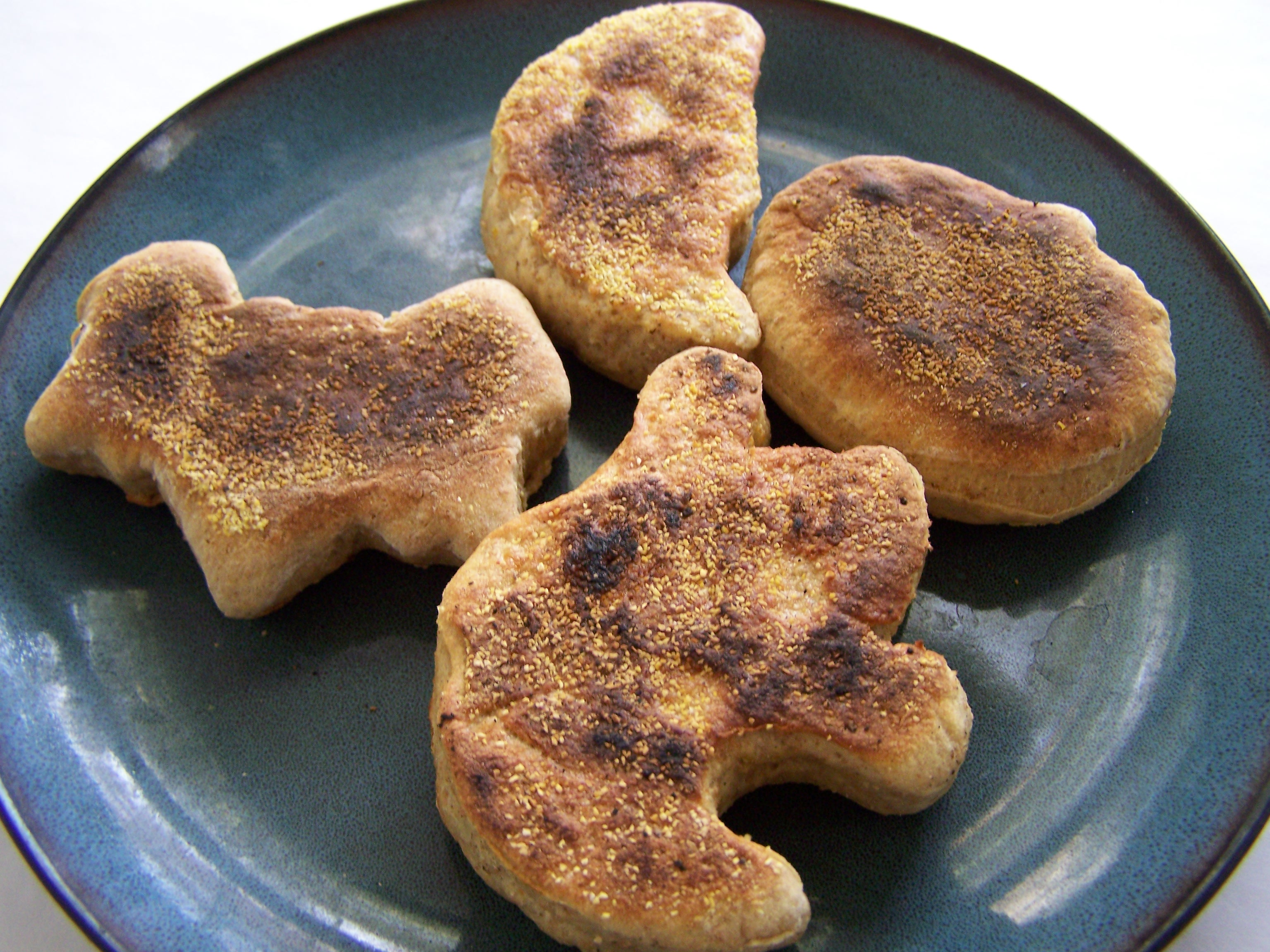 Pumpkin Spice English Muffins in Fun Halloween Shapes